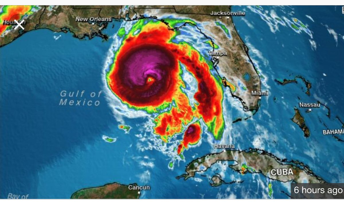 All the fracking waste that we've been dumping into the Gulf of Mexico for the last decade is about to come ashore.  #michaelhurricane <br>http://pic.twitter.com/Gda4ssKeZd