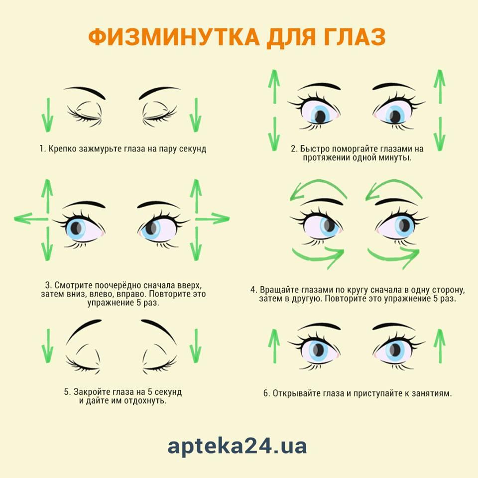 Физкультминутка для глаз с картинками