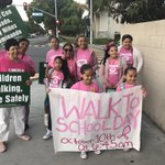 Image for the Tweet beginning: Walk to School Day!