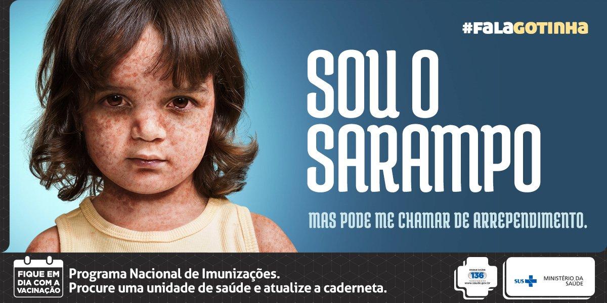 #FalaGotinha - Não podemos permitir que doenças como o sarampo voltem a afetar nossas crianças. #VacinarÉProteger