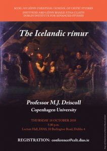 test Twitter Media - The Icelandic rímur Presented by M.J. Driscoll (Copenhagen University) Thursday 18th October 2018 at 5pm @DIAS_Dublin https://t.co/BJuRAkccA9 https://t.co/ZOdTRdLFVs