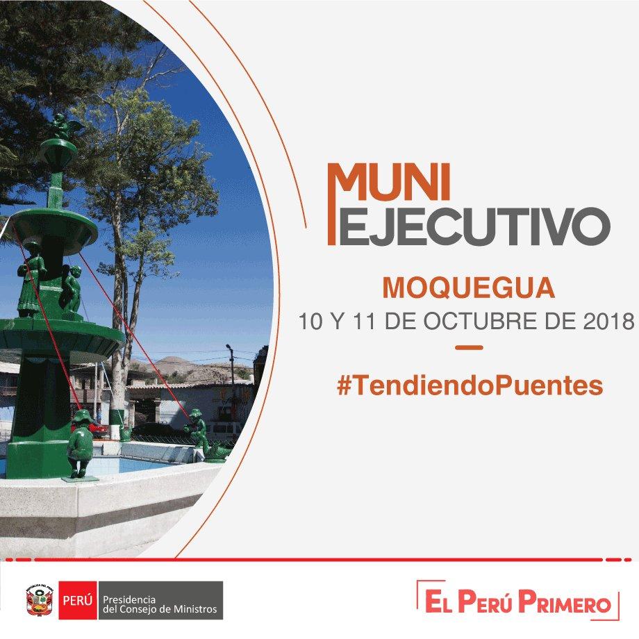 Javier Abugattás, Presidente del @CEPLAN2050 participará en el #MUNIEjecutivo  que se llevará a cabo en Moquegua. Porque debemos seguir #TendiendoPuentes