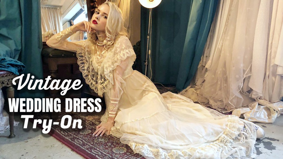 Taylor R On Twitter Trying Vintage Wedding Dresses
