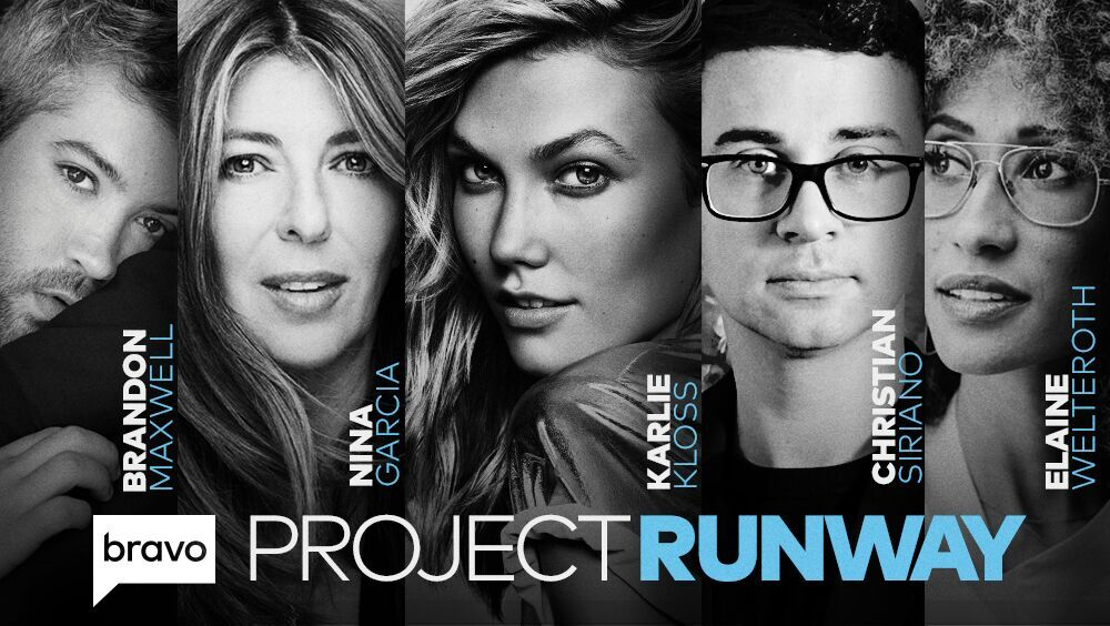 Hi, I'm Karlie, host of #ProjectRunway!! We're bringing it back to @Bravotv with judges @ninagarcia , @Brandonmaxwell &  and@ElaineWelteroth mentor . Ge@CSirianot ready for the boldest collection yet ✂👗