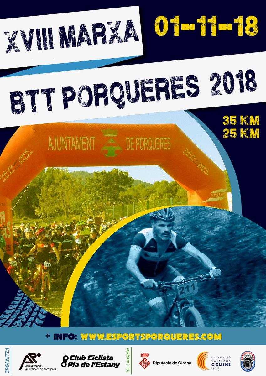 Reserveu data 01-11. Esports Porqueres i el Club Ciclista Pla de l'Estany organitzen l'edició XVIII d'una marxa que ja coneixeu per la nostra zona!