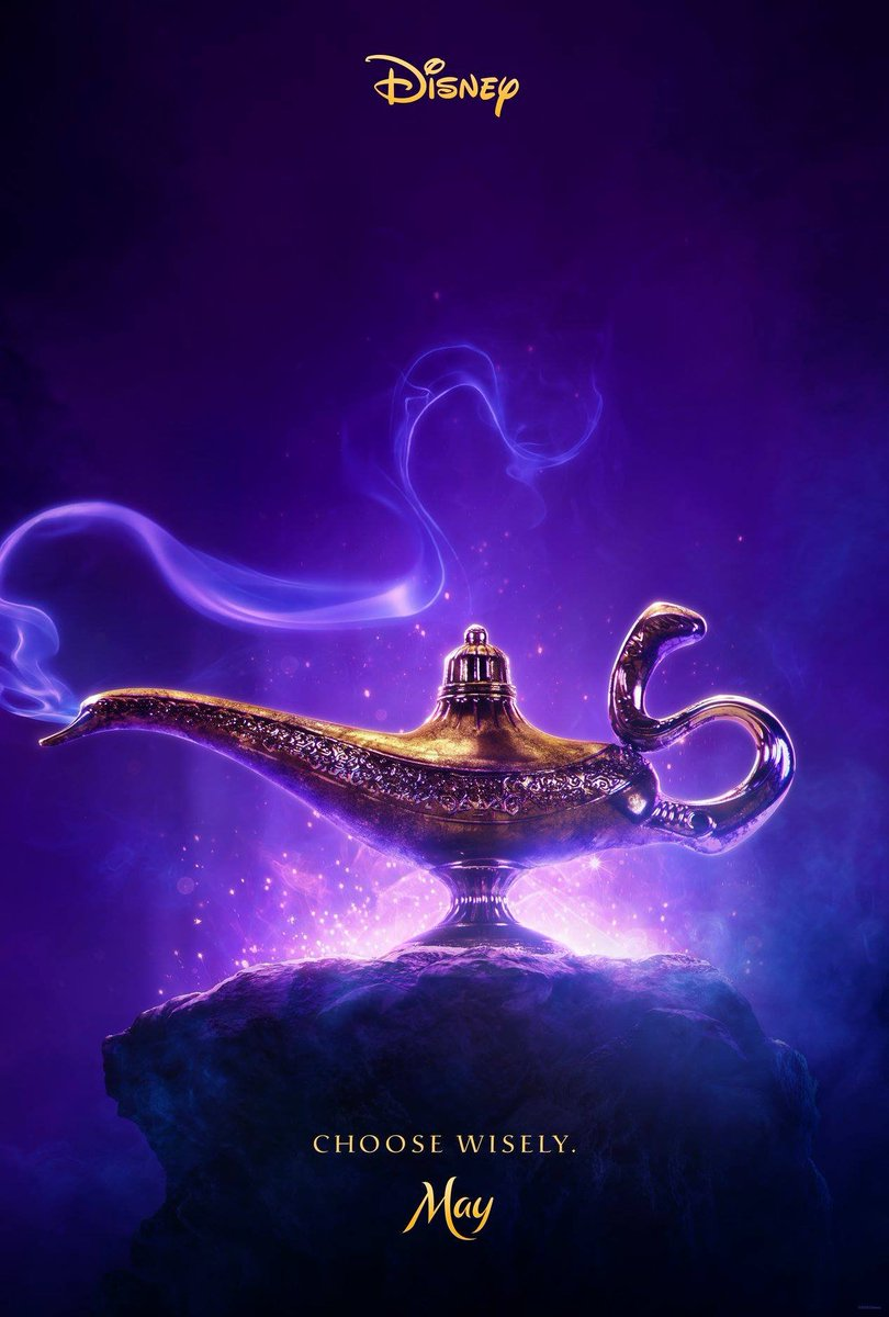 aladdin poster teases the arrival of will smith u0026 39 s genie and says to  u0026quot choose wisely u0026quot