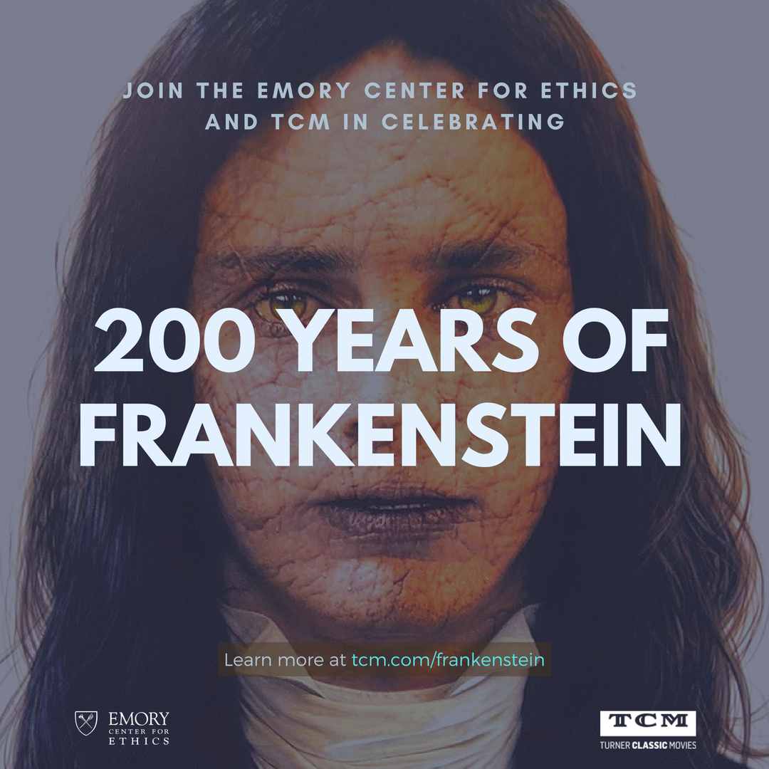 "Center for Ethics on Twitter: ""Join Us and @tcm for a Celebration of the 200th Anniversary of Mary Shelley's #Frankenstein! All October, TCM will be showing Frankenstein movies, w/ 2 marathons 10/22 & 26. See the full schedule & buy a commemorative print by @RossRossin at https://t.co/ExvqRgU8J5!… https://t.co/GmowHvcASJ"""