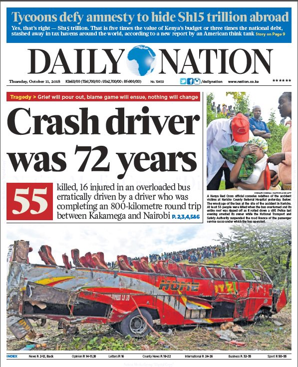 50 dead - Muhoroni highway bus crash - Page 2 - Life