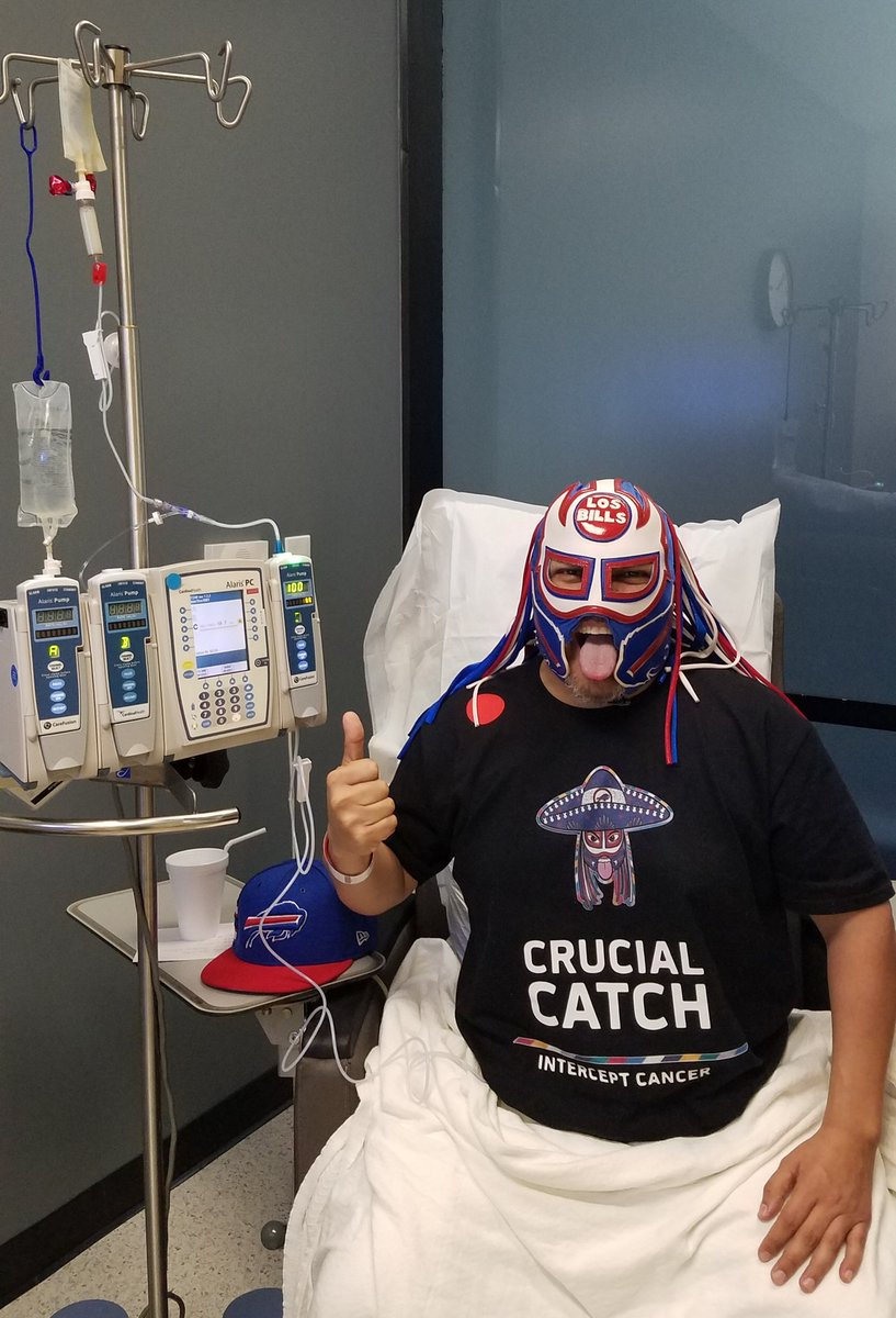 Chemo #17 is flowing Amigos! Blood looks good. Chemo today, @buffalobills vs @HoustonTexans this weekend!! Gods strength will carry me...   #VivaLosBills #PanchoPower #InterceptCancer<br>http://pic.twitter.com/yweax0PUZ2