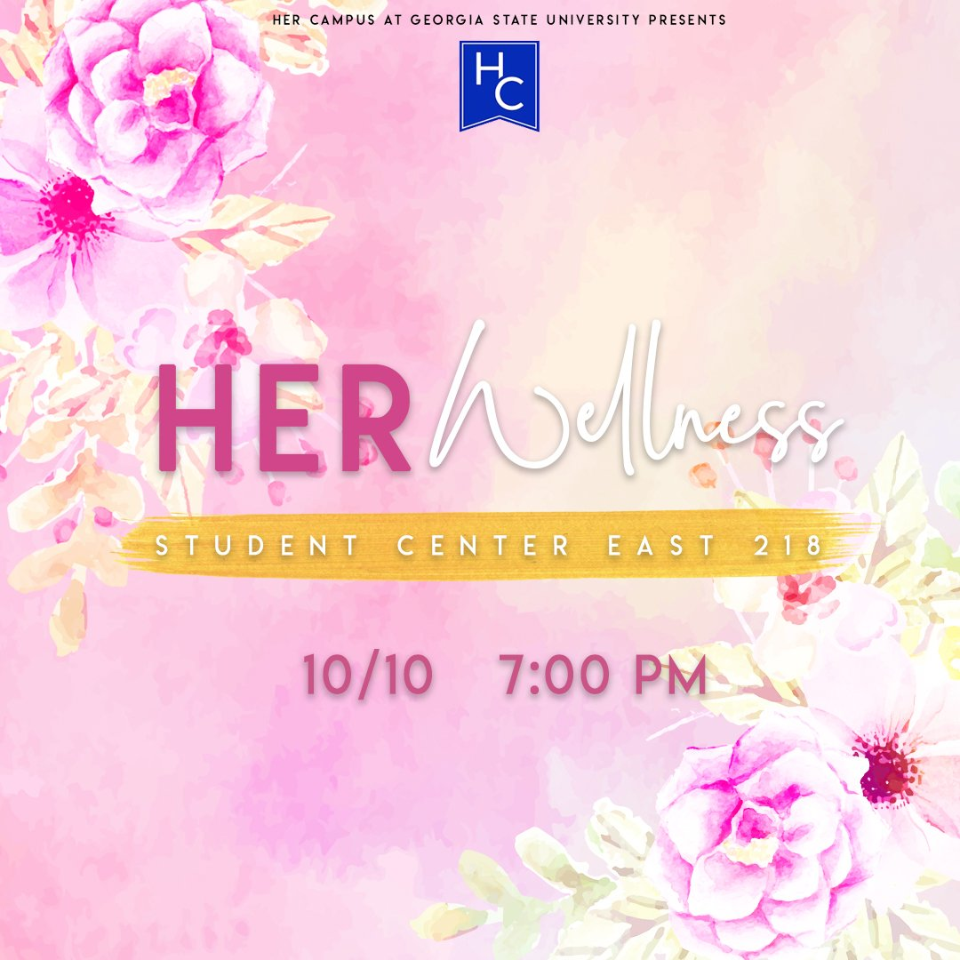 Happy Wednesday #GSU! We are halfway through Pink Week and each event has been such a memorable experience! Hang with us tonight at HER Wellness! #hcxo #hcgsu #gsu22 #gsu21 #gsu20 #gsu19 #gsu18 <br>http://pic.twitter.com/qXAJUgGI5U