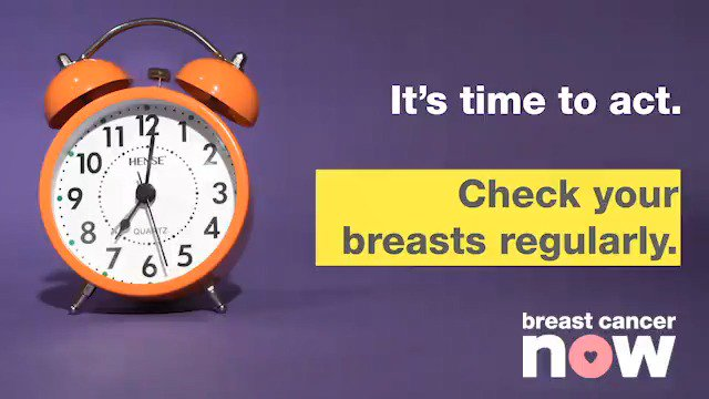 Image for the Tweet beginning: ⏰ Checking your breasts is
