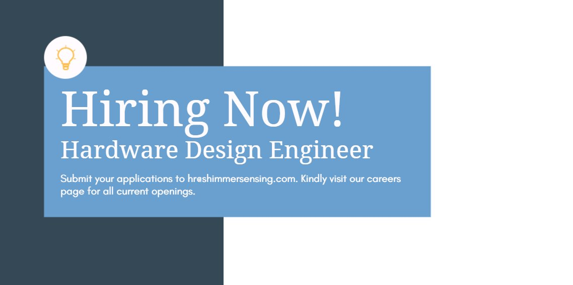 Shimmersensing On Twitter We Re Hiring If You Re A Passionate Hardware Design Engineer Looking To Work In The Wearable Technology Space Then We D Like To Hear From You See Full Job Description Here