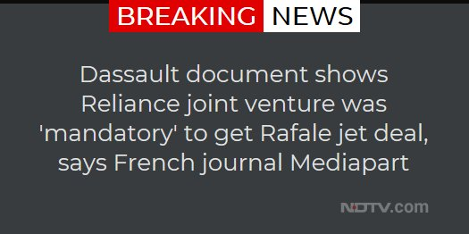 Dassault document shows Reliance joint venture was 'mandatory' to get Rafale jet deal, says French journal Mediapart