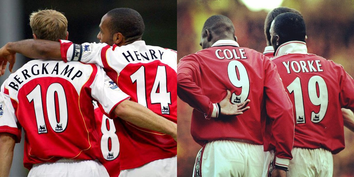 Which of these Premier League duos were better?  Retweet for Bergkamp/ Henry  Favourite for Cole/ Yorke <br>http://pic.twitter.com/FCdSKCnCwp