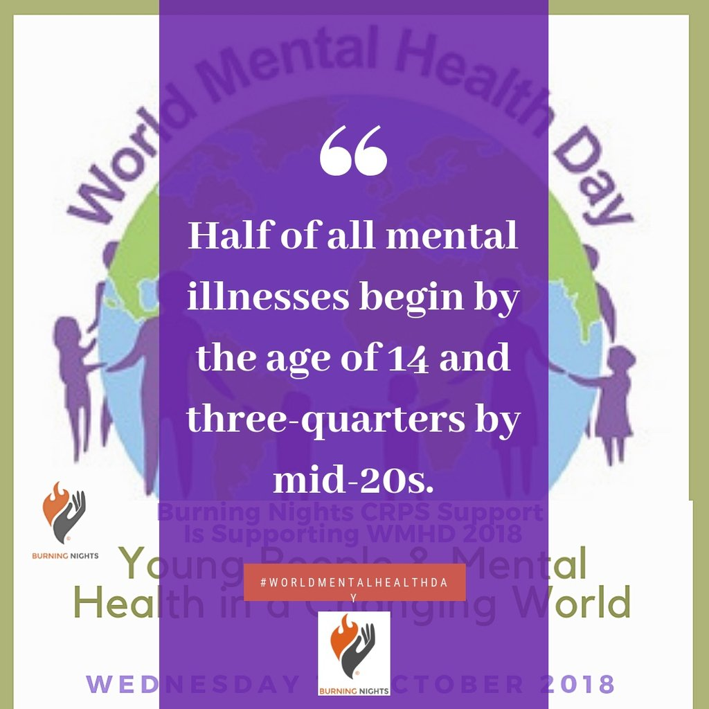 Fact 2 World Mental Health Day 2018  Half of all mental illnesses begin by the age of 14 &amp; three-quarters by mid-20s  If your child, teen or adolescent has any unresolved mental health issues pls seek professional guidance so treatment can start #WorldMentalHealthDay<br>http://pic.twitter.com/NFj361MCu4