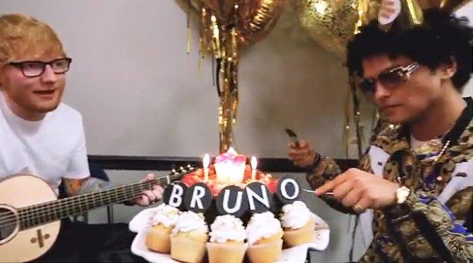 Bruno Mars contrató a Ed Sheeran para que le cantara el Happy Birthday