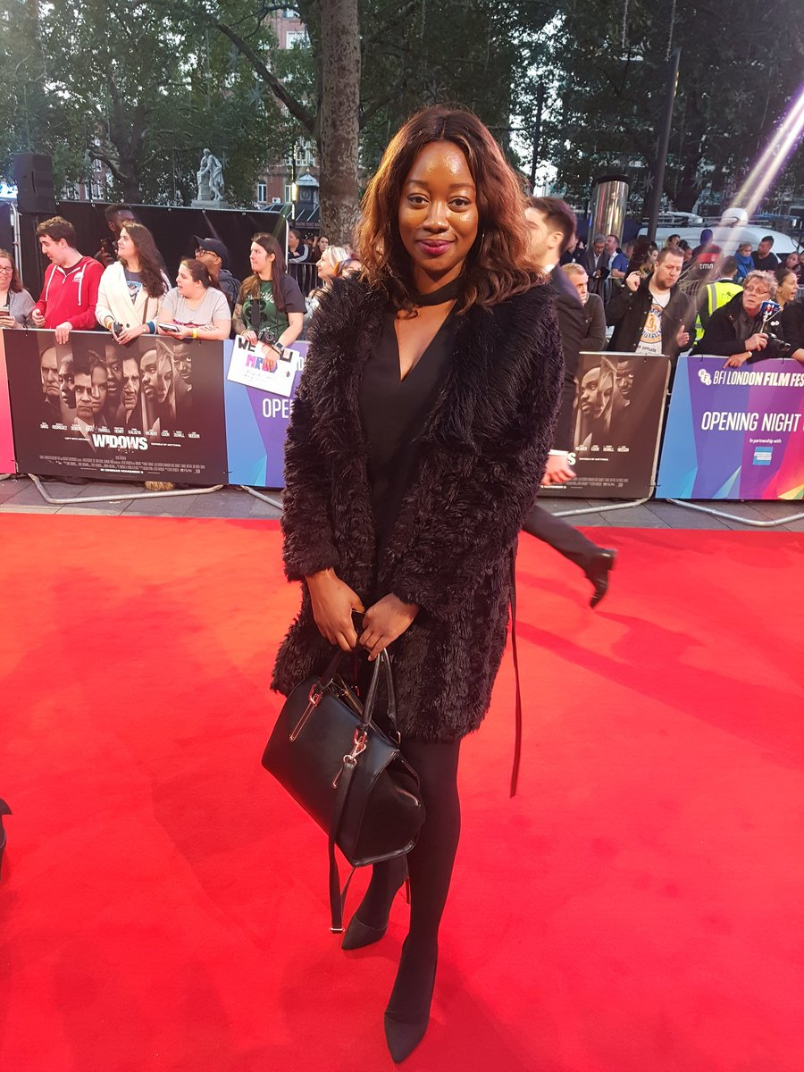 Our editor @MichelleShanti at the @BFI #LFF world premiere of #Widows. This is going to be good!