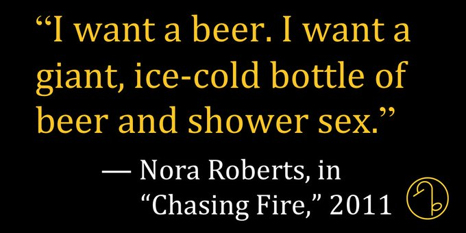 Happy Birthday American author Nora Roberts (October 10, 1950- )