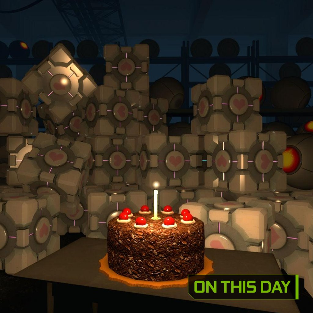 Happy 11th birthday to pioneering puzzle platformer Portal! Will there be cake this year? 🎂
