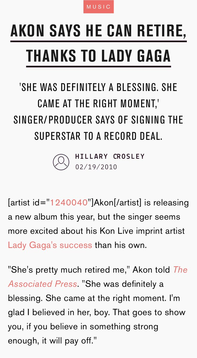 """@ajclassic """"she's pretty much retired me."""" we sleep on how savvy akon was with that signing."""