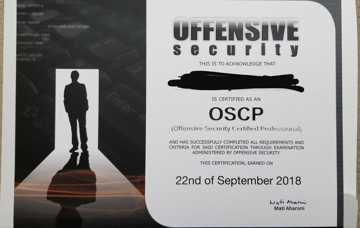 Oscp Hashtag On Twitter