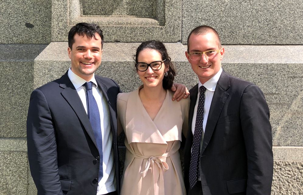 Congratulations to Josh Quinn-Watson, Alexandra Harrison-Ichlov and Alexander Di Stefano, who were admitted to the Supreme Court of Victoria on Tuesday 9 October 2018 #LifeatABL
