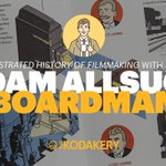 An Illustrated History of Filmmaking with @aabillustration.  Listen on #TheKodakery at https://t.co/4CLK0cn9ok