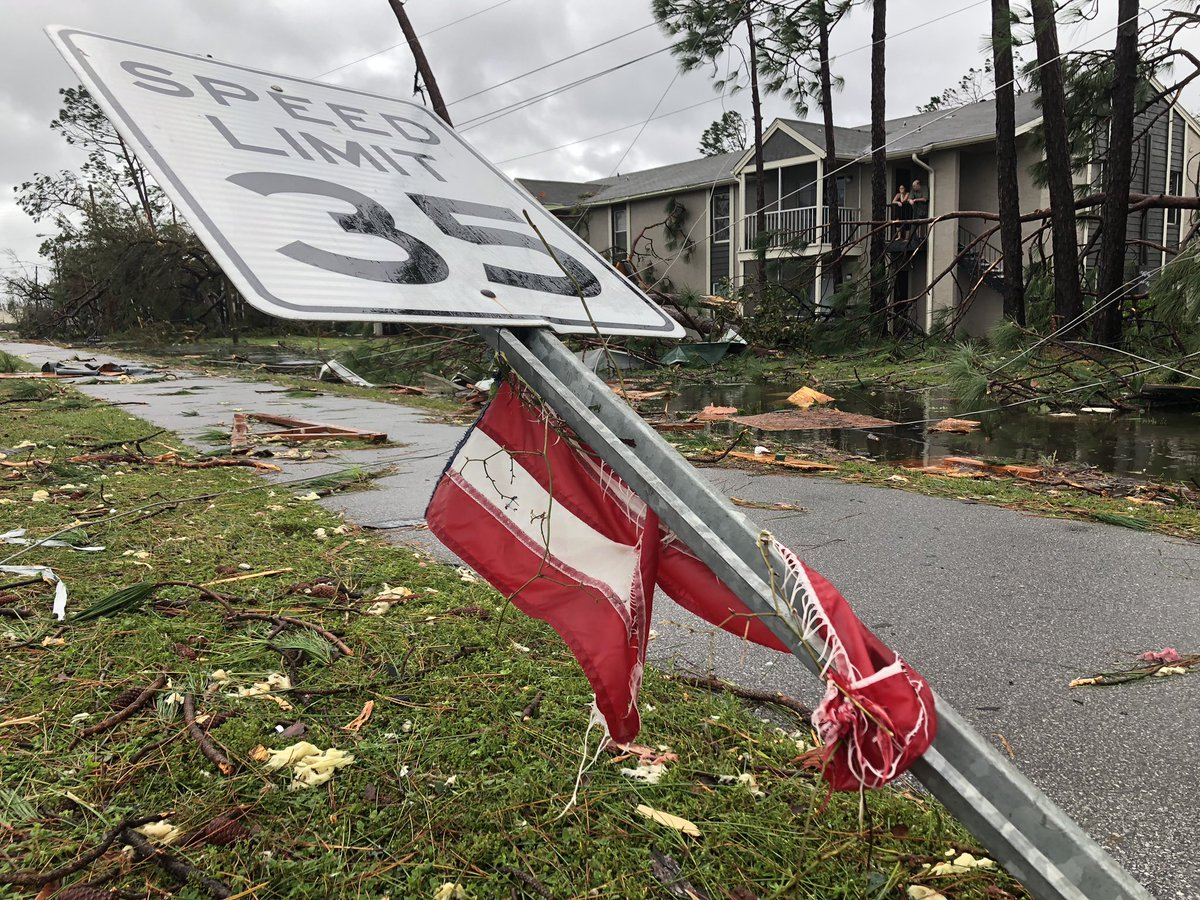 Videos from Hurricane Michael show its stunning strength