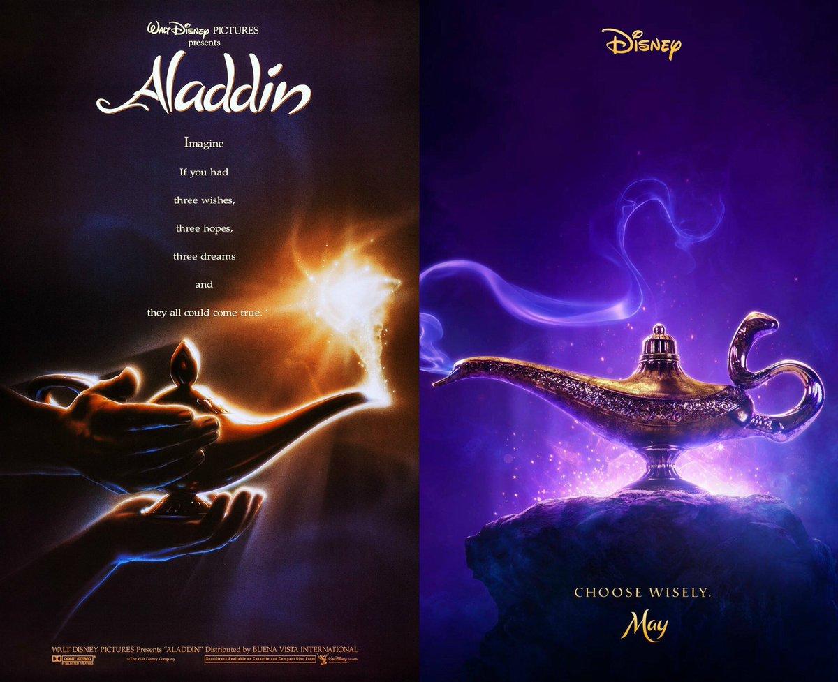 Fandango on twitter we love lamp aladdin 1992 poster left aladdin 2019 poster right - Aladdin 2019 poster ...