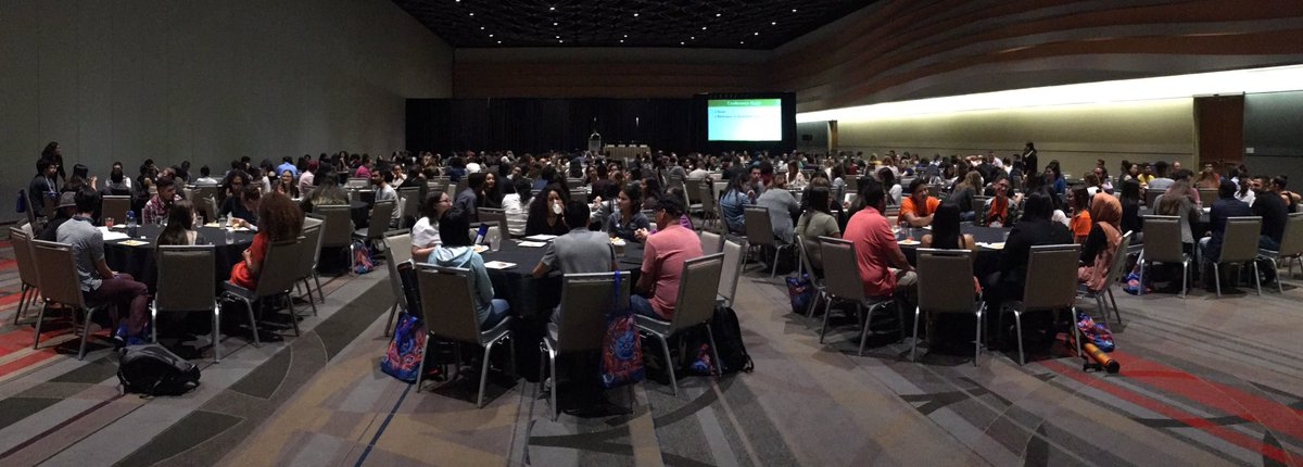 Every person in this room received a travel scholarship to attend #SACNAS2018 from @sacnas. What an amazing way to provide resources to students that may not have otherwise been able to attend! Honored to be part of this group!<br>http://pic.twitter.com/AoiuIJdGNs
