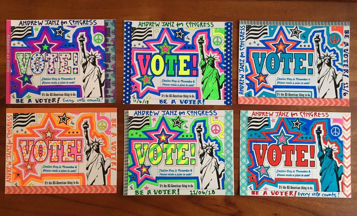 Woohoo!! Just wrote my 1000th #PostcardsToVoters   And it is for Andrew Janz who's running against the reviled Devin Nunes #Flip22<br>http://pic.twitter.com/pwgnuy8eMu