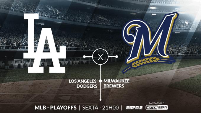 DECISÃO NA MLB! Na final da Liga Nacional, Los Angeles Dodgers e Milwaukee Brewers duelam DAQUI A POUCO por uma vaga na World Series. A partir das 21h, você assiste AO VIVO na ESPN2 e no WatchESPN. #MLBnaESPN Foto