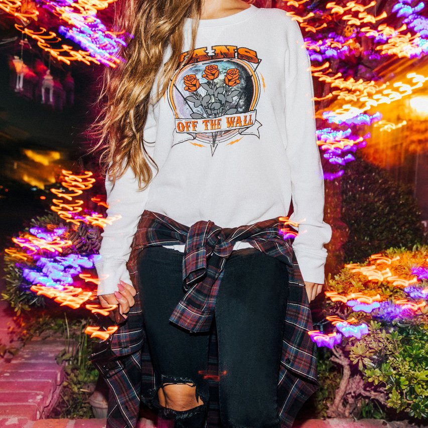 b0f77de7 Channel your inner rockstar with the Rosie Tour Long Sleeve Thermal Top & a  pair of classic Checkerboard Slip-Ons! Shop the look: http://bit.ly/2C7VE4t  ...