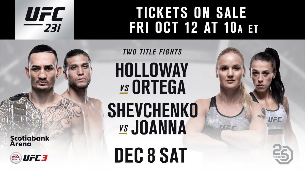 An epic night of fights in The Six ����  Tickets on-sale Friday! #UFC231 https://t.co/ZmiU2wPtAt