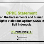 Image for the Tweet beginning: The CSO Partnership for Development