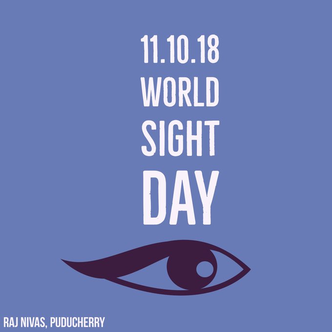On this #WorldSightDay, let's focus on solutions to ensure everyone, everywhere has access to #eyecare. @MoHFW_INDIA Photo