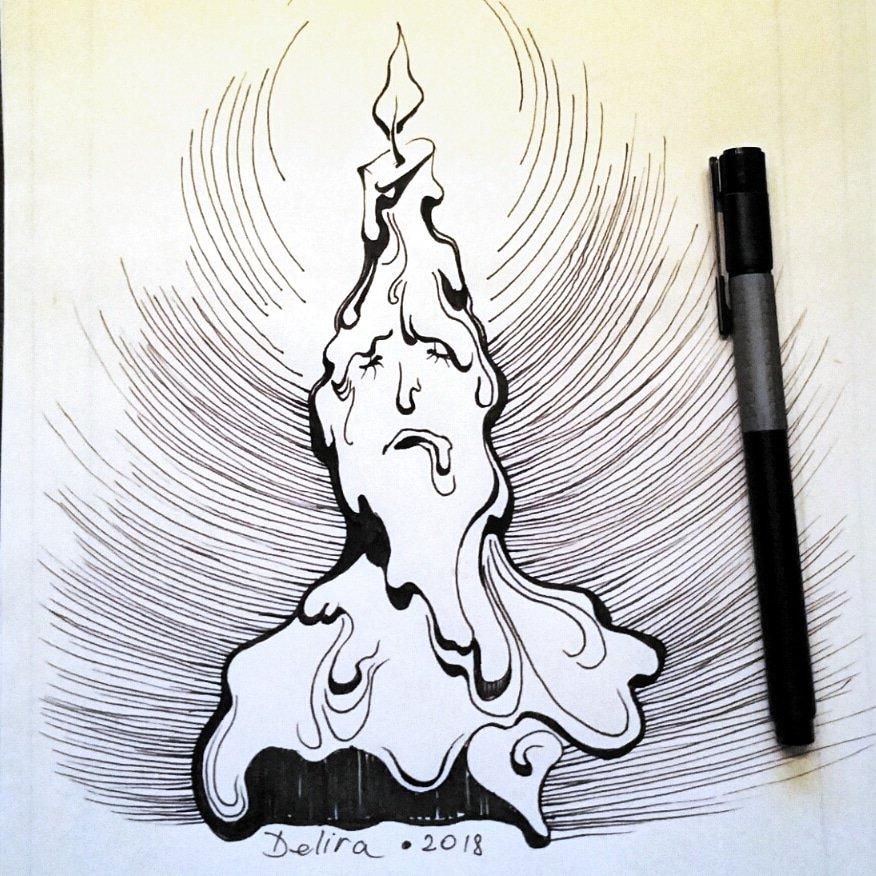 Melting Candle Sketch