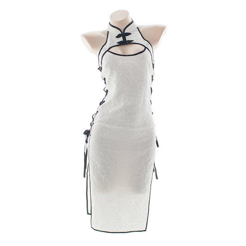 サイドオープンチャイナドレス 胸元も見えてセクシー デザインも結構格好良い #サイドオープンチャイナドレス