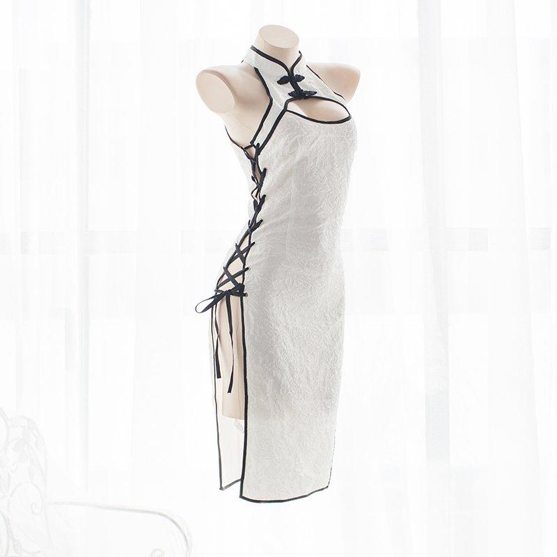 なんだこのエロさはwwサイドオープンチャイナドレスがすごいww