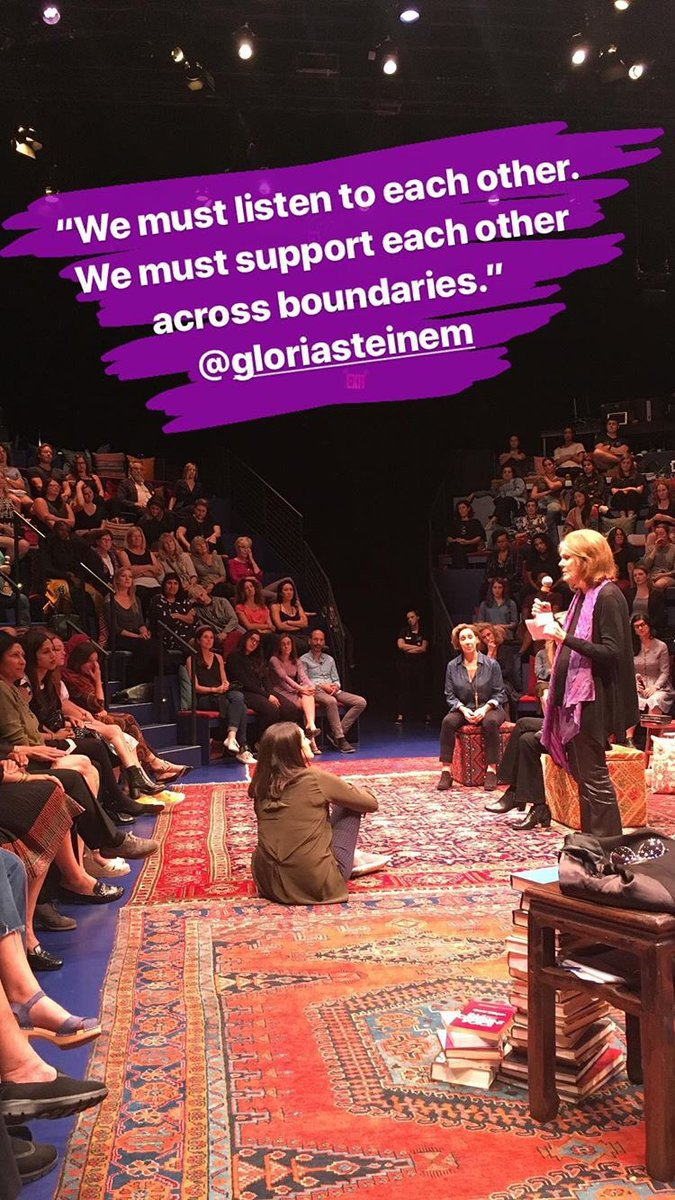We are so honored that @GloriaSteinem is here for tonight's @GloriaThePlay! Follow along at instagram.com/equalitynoworg/