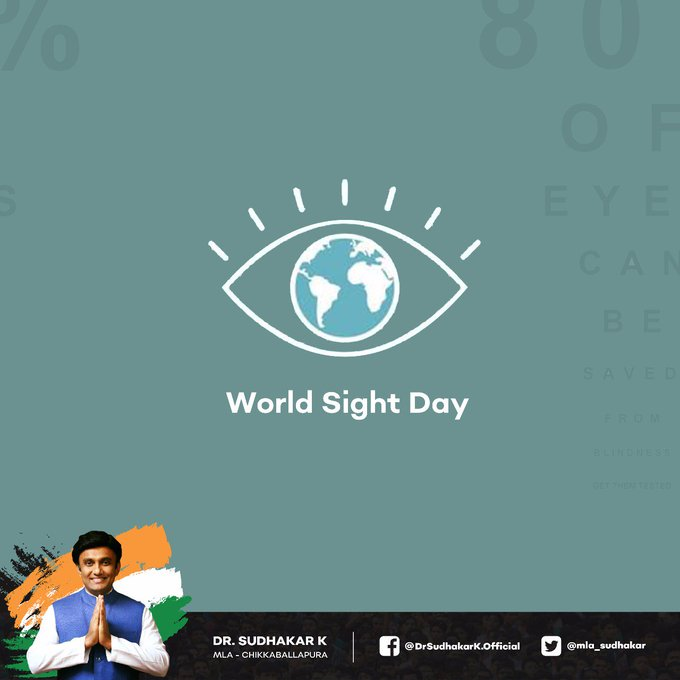 There is no better way to thank God for your sight, than by giving a helping hand to someone in the dark. I wish you all a happy #WorldSightDay and hope to see you all extend your kindness today. Photo