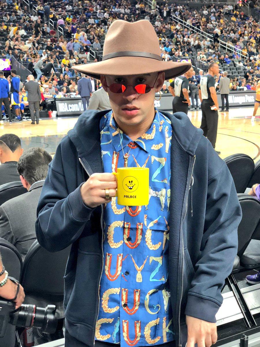 Checkin' out @Warriors/@Lakers in Las Vegas... it's Bad Bunny! #NBACelebRow #NBAPreseason