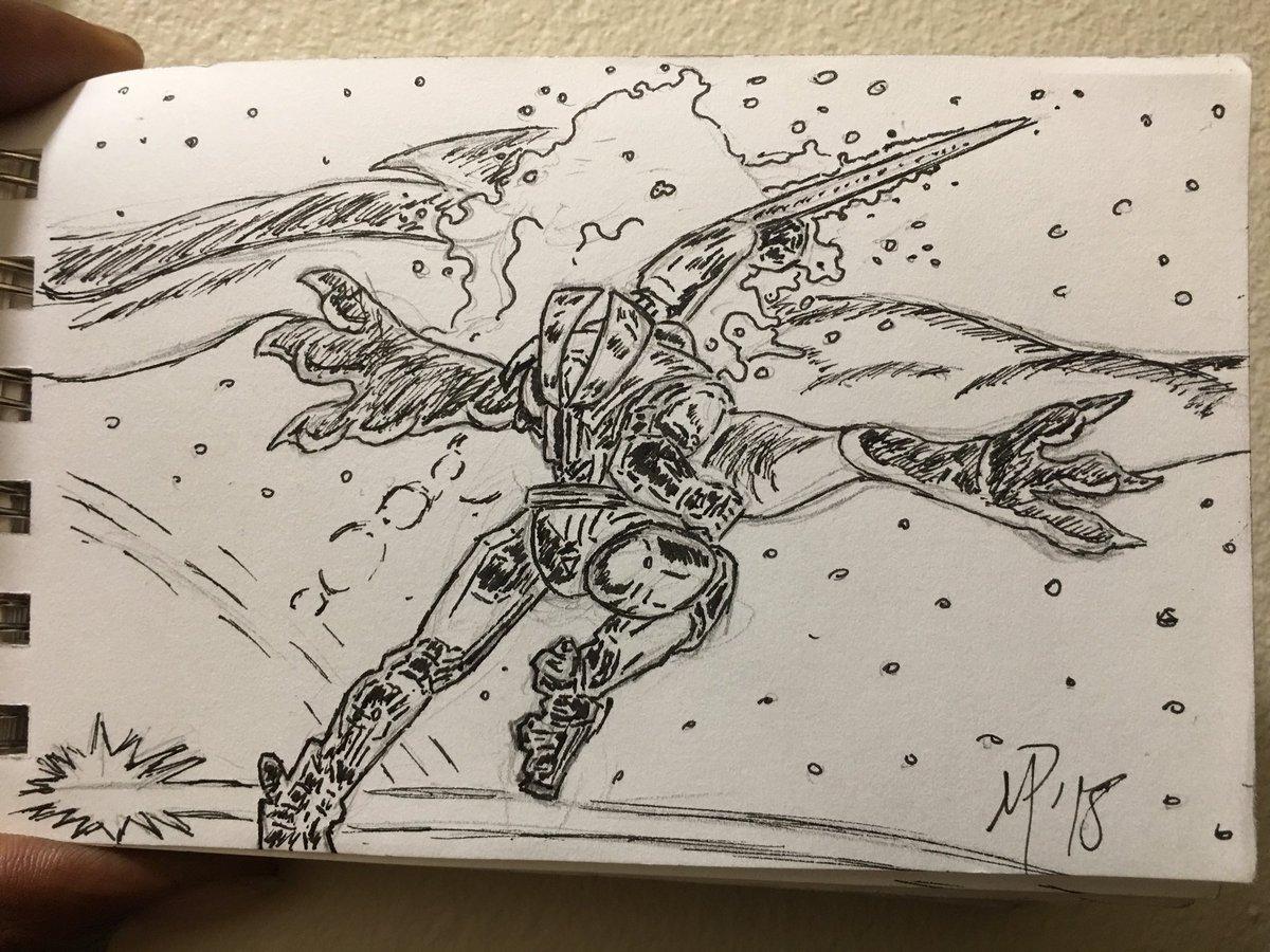 Robot Vs Monster Drawing