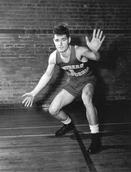 """#FightOnForever, """"Tex"""" Winter.   Our """"Most Inspirational Player"""" in 1947, Winter went on to make his mark as a coach, refining and popularizing the Triangle Offense which led him to 10 NBA titles as an assistant and earned him a spot in the @Hoophall.  He was 96.<br>http://pic.twitter.com/lZXFHwsDnM"""