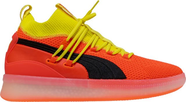 new clyde court disrupt mens basketball shoe red yellow 12a4bec8e
