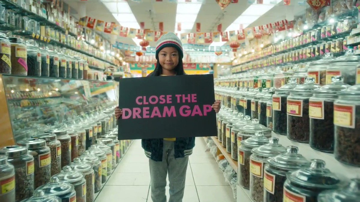 Research shows that starting at age 5, many girls begin to develop limiting self-beliefs. They stop believing their gender can do or be anything.   This is the Dream Gap, and this year #Barbie  begins working to close it:  http://barbie.com/DreamGap  . #CloseTheDreamGap  #DayOfTheGirl