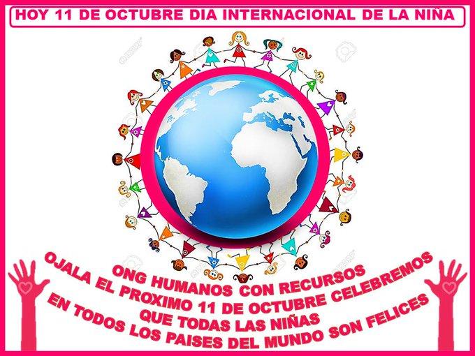 Hoy 11 de Octubre es El #DíaInternacionalDeLaNiña Todas Las Personas De Todos Los Países Del Mundo Debemos de Unirnos para Lograr que Todas las Niñas en Todos Los Países del Mundo son Felices Photo