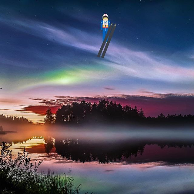 What's the weirdest weather phenomenon you've experienced in Finland? #thisisfinlandofficial #FINemoji #mattinykanen #skijumping #auroraborealis #northernlights background photo by Visit Finland<br>http://pic.twitter.com/Fb0BxEiodZ