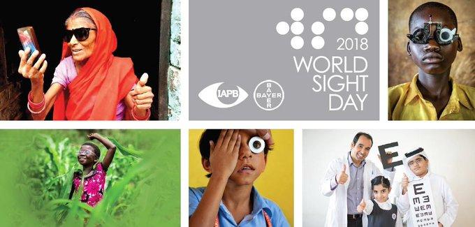 [#Santé] En cette JM de la Vue, nous soutenons l'Agence Internationale pour la Prévention de la Cécité @IAPB1 pour sensibiliser le plus grand nombre aux déficiences visuelles et aux maladies de l'œil potentiellement invalidantes 👁 #WorldSightDay Photo