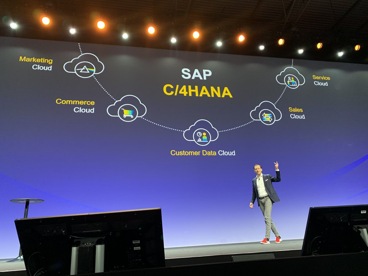 """""""It is our engineering pride and commitment to deliver an end-to-end suite for the front office."""" @moritzzimmerman at #SAPCXLive @SAP_CX<br>http://pic.twitter.com/KLMCT7iNud"""